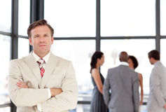 Senior Businessman standing Business team Stock Photography