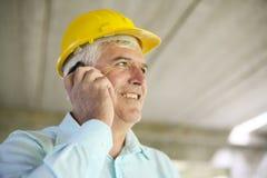 Senior businessman. Senior businessman talk on the phone Royalty Free Stock Photography