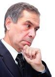 Senior businessman thinking Royalty Free Stock Images