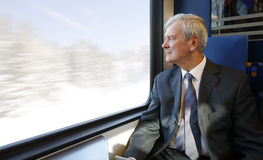 Senior businessman traveling Royalty Free Stock Photography