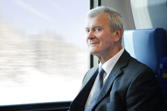 Senior businessman traveling Stock Photos