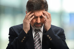 Senior Businessman under Stress Royalty Free Stock Photos