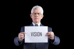 Senior businessman with vision Stock Photos