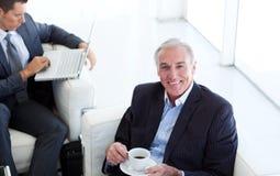 Senior businessman waiting for a job interview Stock Photos
