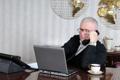 Senior Businessman at Work Royalty Free Stock Photography