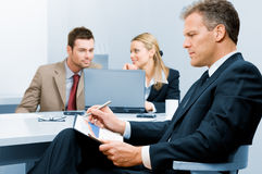 Senior businessman working Stock Image
