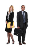 Senior businessman and young assistant Royalty Free Stock Images