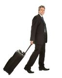 Senior businessmen with travel bag Stock Photo