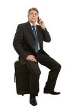 Senior businessmen with travel bag Royalty Free Stock Photography