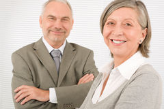 Senior businesspeople Professional cross arms Stock Photo