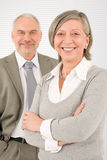 Senior businesspeople Professional cross arms Stock Image