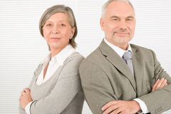 Senior businesspeople serious cross arms portrait Royalty Free Stock Images