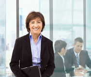 Senior businesswoman Stock Image