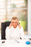 Senior businesswoman break Stock Image