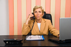 Senior businesswoman call by phone Royalty Free Stock Photography