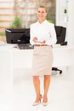 Senior businesswoman coffee Stock Photography