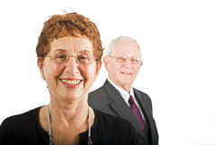 Senior businesswoman with colleague Stock Images