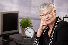 Senior businesswoman at desk Royalty Free Stock Photography