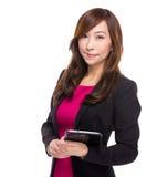 Senior businesswoman with digital tablet Stock Photos