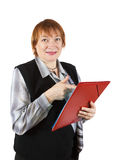 Senior businesswoman with documents Royalty Free Stock Photos