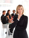 Senior businesswoman in foreground Royalty Free Stock Image