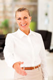 Senior businesswoman handshake Stock Image