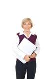 Senior businesswoman with laptop Royalty Free Stock Photos