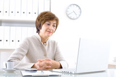 Senior Businesswoman with laptop Stock Photos