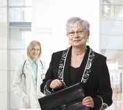 Senior businesswoman at medical center Royalty Free Stock Images