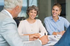 Senior businesswoman in a metting Stock Images
