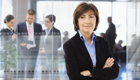 Senior businesswoman in office Royalty Free Stock Image