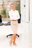 Senior businesswoman office Stock Image