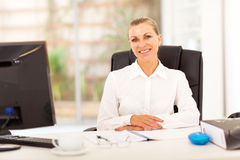 Senior businesswoman office Stock Photo