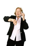 Senior businesswoman on phone Stock Images