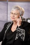 Senior businesswoman on phone call Stock Photography