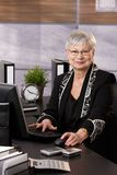 Senior businesswoman sitting in office Royalty Free Stock Image
