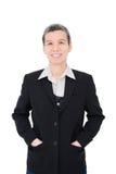 Senior businesswoman smiles Royalty Free Stock Photo