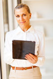 Senior businesswoman tablet Royalty Free Stock Images