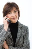 Senior businesswoman talking on mobile Royalty Free Stock Photo