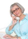 Senior Businesswoman On Telephone Royalty Free Stock Images