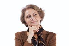 Senior businesswoman thinking Royalty Free Stock Photos