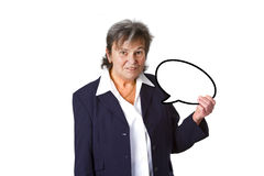 Senior businesswoman with thought bubble Stock Photos