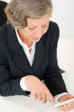 Senior businesswoman touch-screen tablet computer Royalty Free Stock Photography