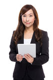 Senior businesswoman use digital tablet Stock Images