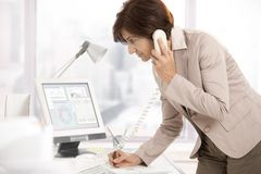 Senior businesswoman at work Stock Photo