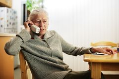 Senior calling Stock Image