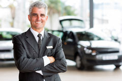 Senior car dealer principal Stock Image