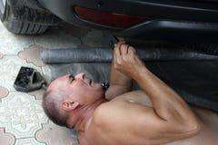 Senior car mechanic Royalty Free Stock Photography