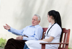 Senior care concept Royalty Free Stock Images
