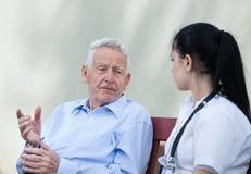 Senior care concept Royalty Free Stock Photo
